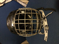 MISSION HOCKEY HELMET WITH CAGE - HECC CERTIFIED