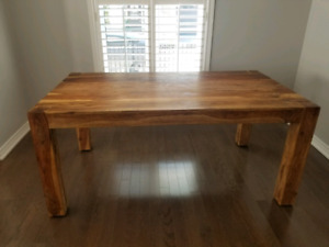 Solid Wood Dining Room Table