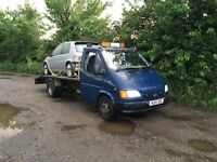 Ford transit low loader recovery truck
