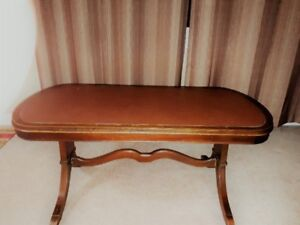 Antique Leather Top Coffee Table