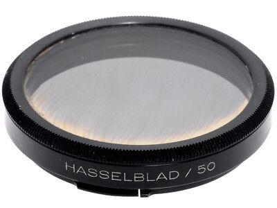 Filtro polarizzatore circolare Hasselblad B50. Scolorito, per collezione.