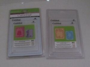 2 double pks of CUTTLEBUG embossing folders