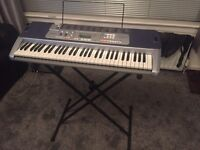Casio LK 110 Keyboard with Stand and Carrying Bag - Excellent Condition
