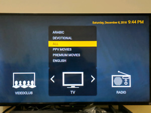 Iptv box with 9 months of subscription (HD 1080)