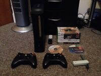Xbox 360 Elite 120GB, 2 Controllers, Turtle Beach Headset & 9 Games