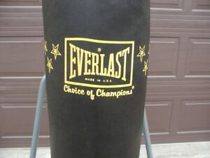 Everlast Heavy Bag with stand and gloves