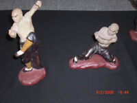 4 asian soap stone carvings  2 Dragons and 2 Fu Dogs