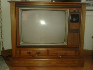 "RCA 26"" antique color TV console"