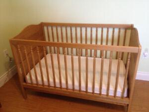 Ikea Diktad Convertible Crib, Dresser/Change Table, Shelf