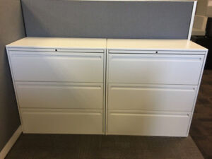 White Modern Filing Cabinets - Beautiful for Home or Office