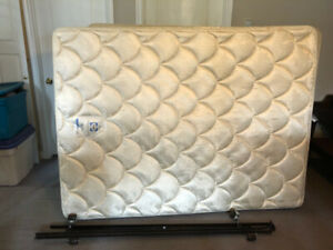 Queen size mattress, box spring and bed frame