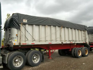 Trailmobile Aluminum End Dump Trailers with grain chutes 24' +27