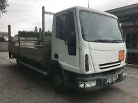 2006 56 Iveco Eurocargo 7.5 tonn dropside flatbed lorry tail lift p/x
