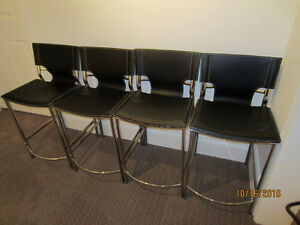4 leather counter stools London Ontario image 1