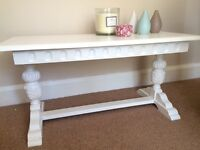 Beautifully detailed solid oak coffee table in Farrow&Ball
