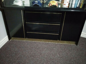 Black Book Case with Shelves and Drawers Cambridge Kitchener Area image 2