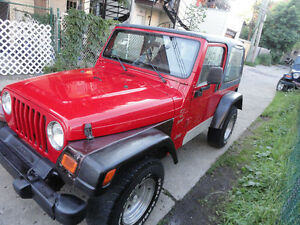 jeep TJ 2000 6cyl a vendre en piece selement tel marty 514 935