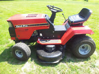 THIS LAWN TRACTOR WORKS THE SAME AS NEW .  THIS RIDING LAWNMOWER