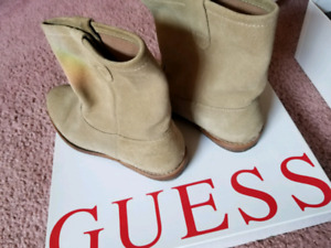 GUESS Beige Suede Women's Ankle Boots (size 7)