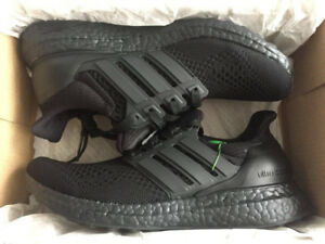 DS ADIDAS ULTRA BOOST 1.0 TRIPLE BLACK SIZE 5 (6 WOMENS) - $400