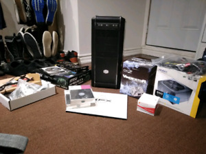 Basic Gaming PC + bunch of parts extra graphic card