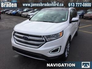 2018 Ford Edge Titanium AWD  - Leather Seats -  Cooled Seats