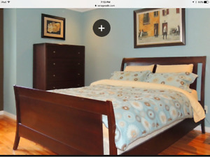 Bed room set, queen size. Shermag,made in Quebec.Price drop!