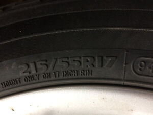 Rims and tires 217/55 R 17