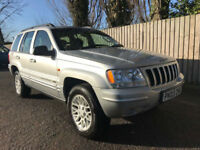 2003 03 Jeep Grand Cherokee 2.7 CRD auto Limited 4X4 34.9 MPG P/X