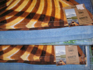 "100% Cotton Beach Towels Approx. size is 59"" Long x 30"" Wide"