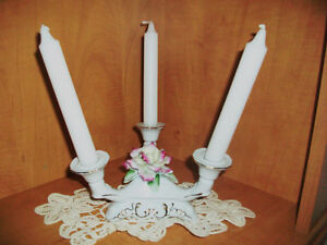 Fine Porcelain three candleholder Cambridge Kitchener Area image 2
