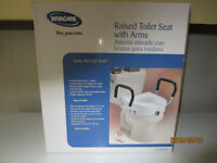 Raised Toilet Seat with Arms.(Sackville)