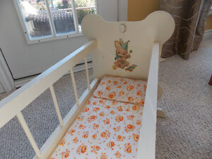 Wooden Doll Cradle and High Chair Set