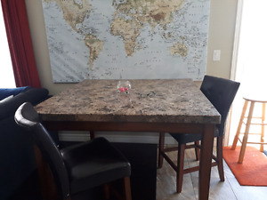 Solid granite dining table- mint condition