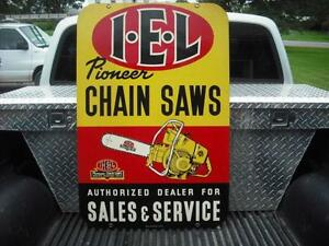 IEL Pioneer Chainsaw Items Signs Manuals Thermometers Etc