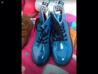 Blue patent boots size 29