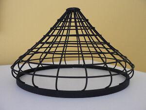 Abat-jour cage / Suspension / Métal noir mat