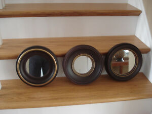Set of 3 Small Mirrors