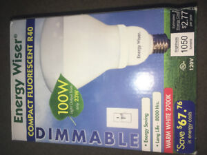 Energy Wiser compact fluorescent R40 dimmable 100W light bulb