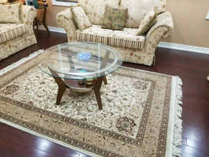 Full.sofa set rug and tables