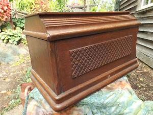 Antique Sewing Machine Lid Hinged storage Box Cambridge Kitchener Area image 3