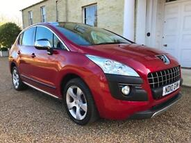 2010 '10' PEUGEOT 3008 CROSSOVER 1.6 HDi EXCLUSIVE TOP SPEC MODEL