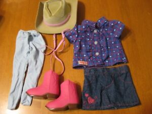 "18"" DOLL OUR GENERATION GIRL COWGIRL OUTFIT like american girl"