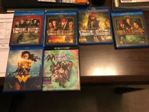 Blu-Ray Movies and a 4K movie
