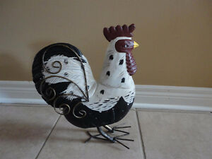 Large decorative rooster figurine statue Brand new