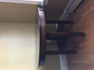"""Like New 42"""" Round Table and Chairs"""
