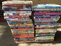 53 assorted kids DVDs