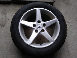2002 Acura RSX rims with barely used snow tires