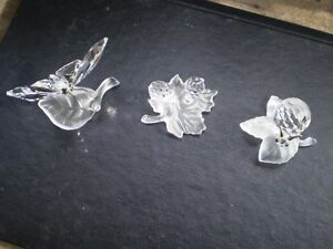Swarovski Crystal Butterfly and Snails Figurines