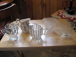 collection of Antique Cream Pitchers